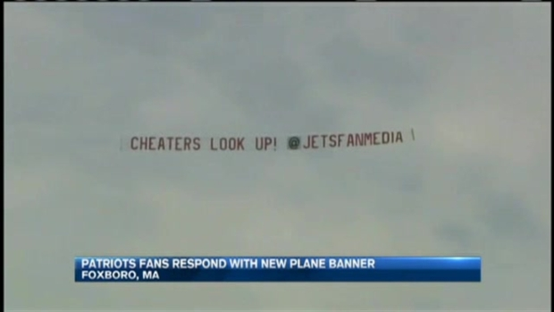 [NECN] Patriots Fans Respond to Trolling Jets Fans With New Plane Banner