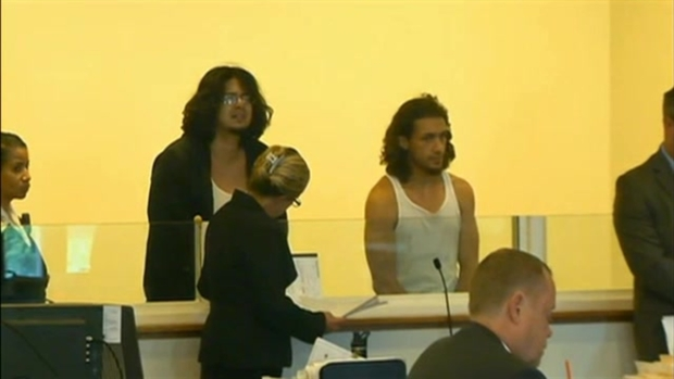 [NECN] Gun Suspects Arraigned; 1 Allegedly Referenced Violence Against Police