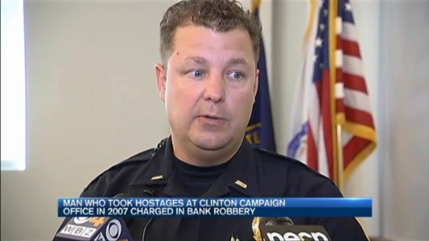 [NECN] Man Who Took Hostages at Hillary Clinton Campaign Office Charged in NH Bank Robbery