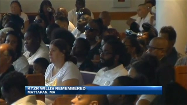 [NECN] 7-Year-Old Kyzr Willis Laid to Rest After Drowning in Boston