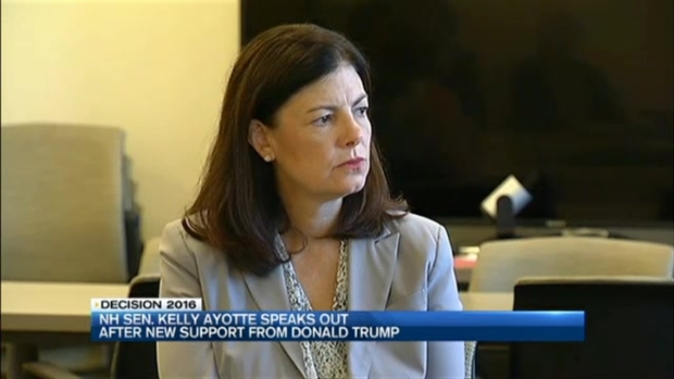 [NECN] New Hampshire Sen. Kelly Ayotte Speaks Out After Trump Support