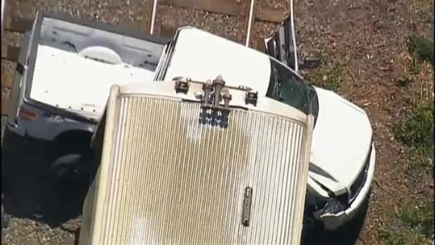 [NECN] Truck Hit By Commuter Rail Train in Wakefield