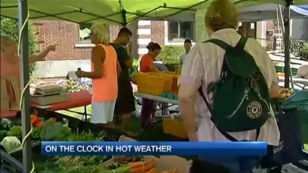 [NECN] On the Clock in Hot Weather