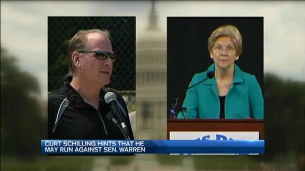 [NECN] Curt Schilling Considering Challenging Sen. Warren?