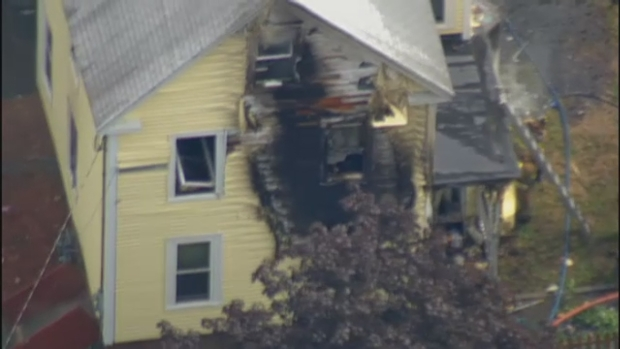 [NECN] Fire Breaks Out in Amesbury, Mass.