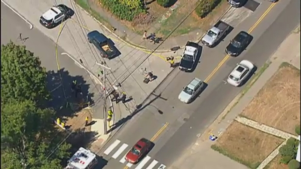 [NECN] Police Respond to Crash Involving Bicycle and Car
