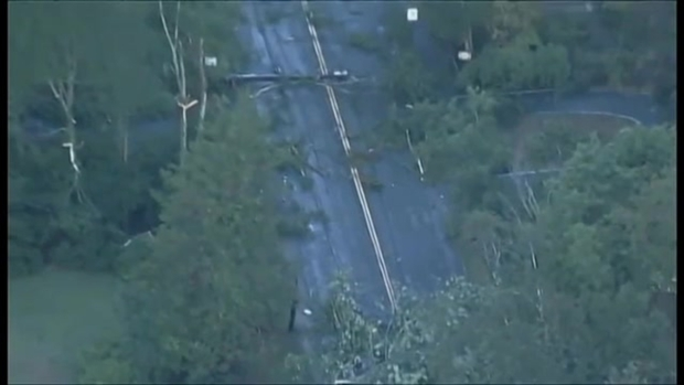 [NECN] AERIAL FOOTAGE: Severe Weather Causes Damage