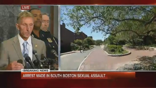 [NECN] Boston Police Presser: Arrest in South End Sexual Assault