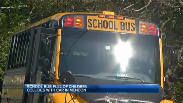 [NECN] Serious Crash Involving School Bus and Car Injures 2