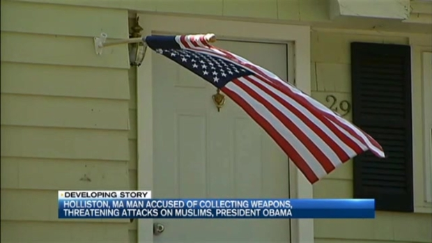 [NECN] Mass. Man Accused of Stockpiling Weapons, Threatening Attacks on Muslims, President Obama
