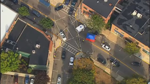 AERIAL FOOTAGE: Pedestrian Killed in Hit-and-Run