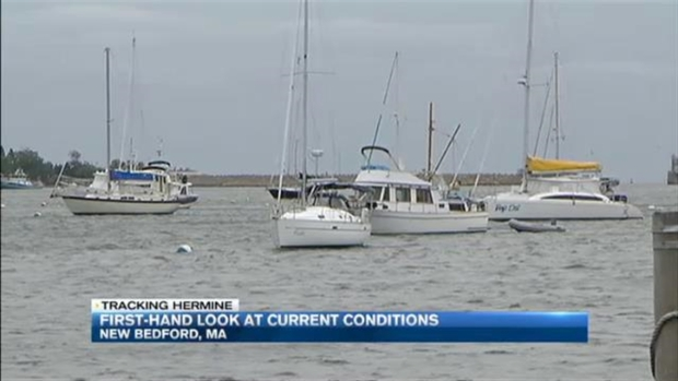 [NECN] Wind, Waves Whip Southern Coast of Massachusetts