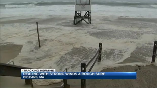 [NECN] Strong Winds and Rough Surf on Cape Cod