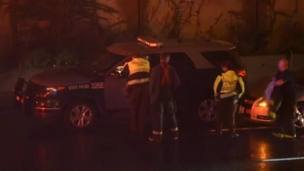 [NECN] Woman Strikes State Police Cruiser on I-93