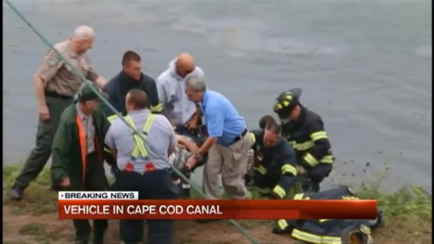 [NECN] Witness: Driver Appeared to Speed Into Cape Cod Canal Intentionally