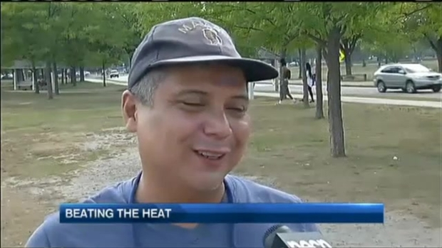 [NECN] New Englanders Try to Beat the September Heat