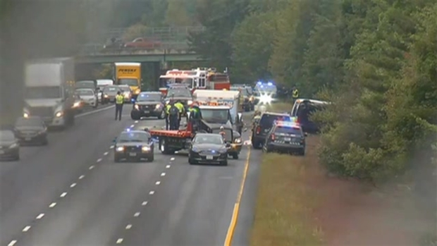 [NECN] Van Crash on I-495 Kills 1, Snarls Traffic