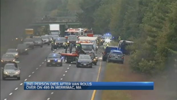 [NECN] 2 Killed After Van Rolls Over on I-495 in Merrimac, Massachusetts