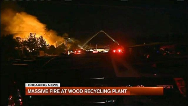 [NECN] Fire Breaks Out at Recycling Plant in Salem, NH