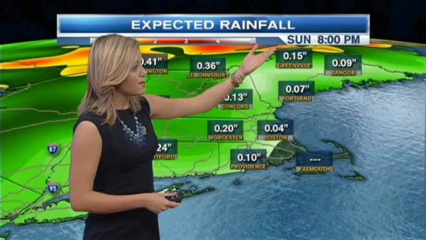 [NECN] Weather Forecast: Spotty Showers on the Way