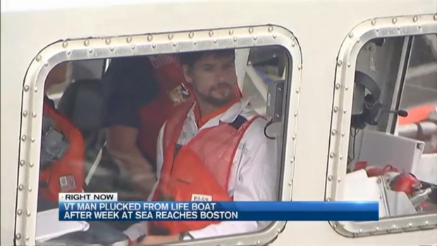 [NECN] Vermont Man Plucked From Life Boat After Week at Sea Reaches Boston