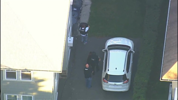 [NECN] AERIAL FOOTAGE: 1 In Custody, 1 Sought