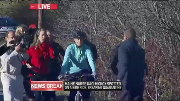 [NECN] Nurse Defies Quarantine Again, Goes on Bike Ride