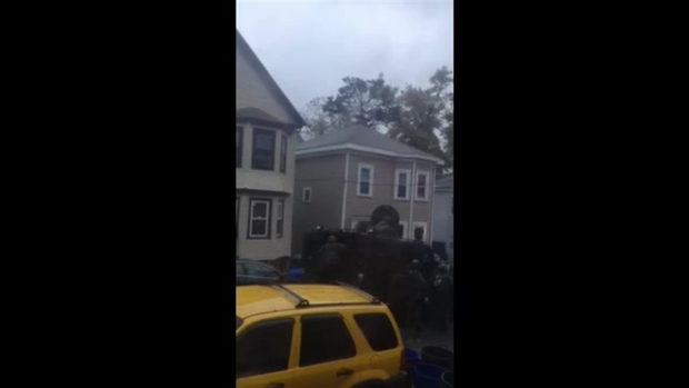 [NECN] RAW: Explosion Heard, SWAT Team Enters Home