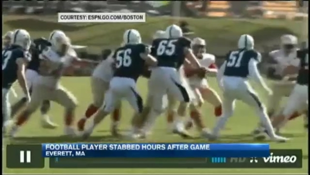 [NECN]High School Football Player Stabbed After Game