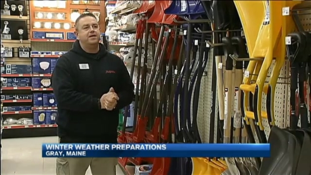[NECN]Let It Snow? Mainers Prep for Season's First Snowfall