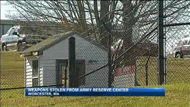 [NECN]6 M4 Rifles, 10 Pistols Missing From Armory in Worcester, Massachusetts, After Break-in