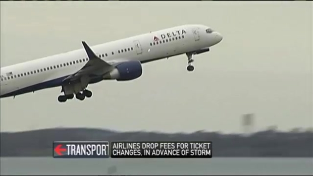 [NECN] Airlines Drop Change Fees Before Thanksgiving Week Storm