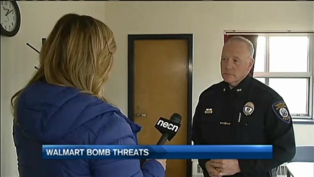[NECN]Walmart Bomb Threats Shut Down Stores on Year's Busiest Weekend