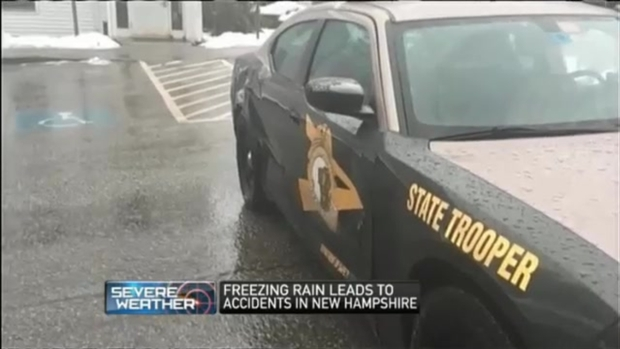 [NECN] Freezing Rain Leads to Crashes in New Hampshire