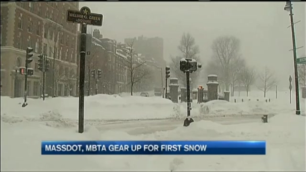 [NECN] MBTA, MassDOT Prepare for First Winter Storm