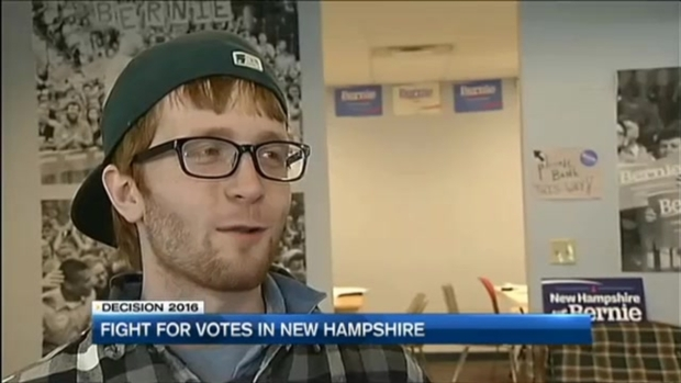 [NECN] Volunteer Campaign for Clinton in N.H.