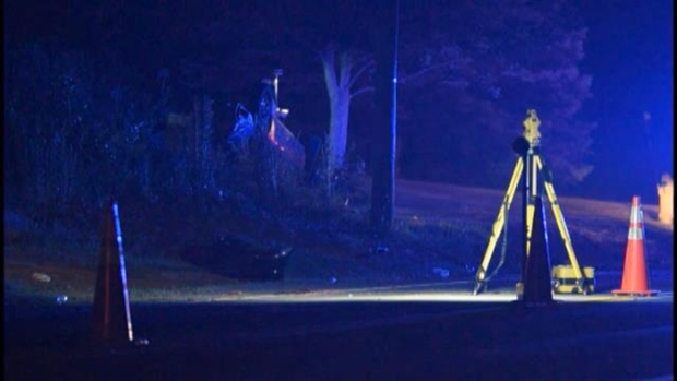 [NECN] 1 Killed, 1 Critical After Pursuit, Crash in Amesbury, Mass.