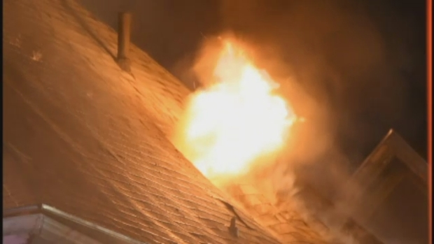 [NECN] Early-Morning 4-Alarm Boston Fire Displaces 11