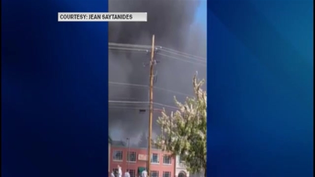[NECN] Viewer Video: Firefighters Battle Retail Store Fire in New Hampshire