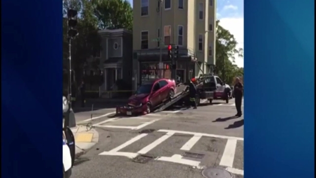 [NECN] Crews on Scene of Crash in Boston's Roxbury Neighborhood