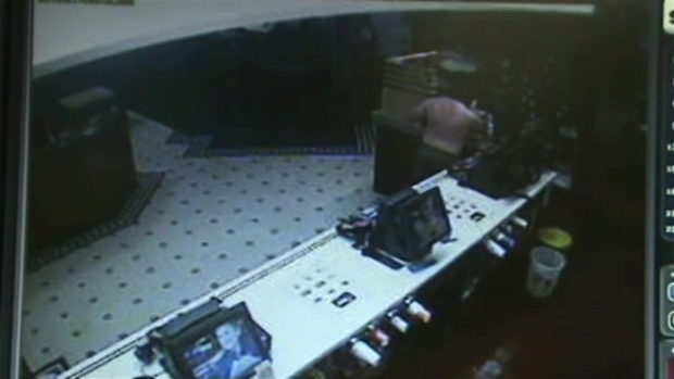 SURVEILLANCE FOOTAGE: Shirtless, Armed Man Robs McDonald's