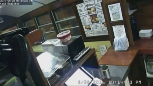[NECN] Man Gets Burger, Steals Money From Tip Jar