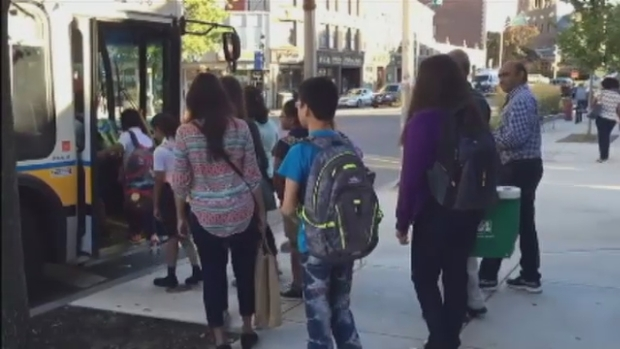 [NECN] Malden Students Use Public Transportant to Get to School