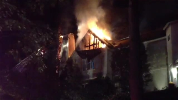 Crews Battle Fire at Large House