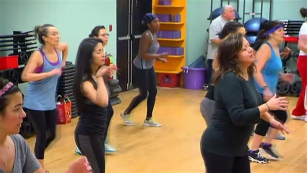 Latoyia Tries Out Zumba