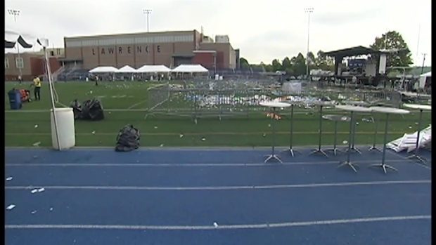 [NECN] Footage Shows Trash Left at Stadium After Brazillian Festival in Lawrence, Massachusetts