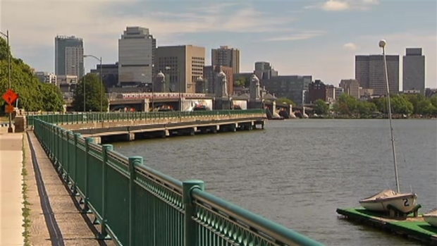 "[NECN] ""Salt and Pepper"" Longfellow Bridge Tower Restored"