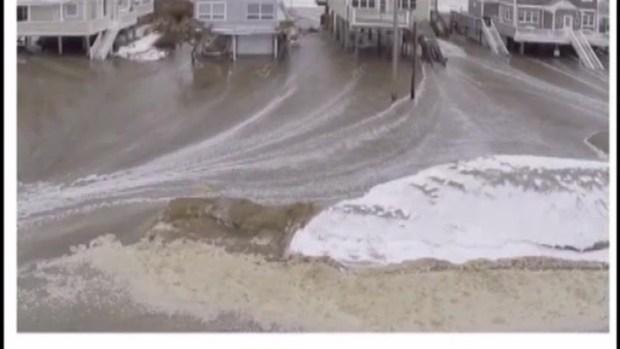 [NECN] Scituate, Mass. Beach Storm Damage