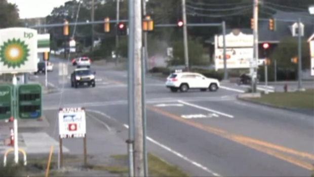 [NECN] Police Seek Driver in Bridgewater Motorcycle Crash
