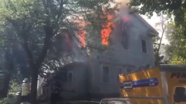 [NECN] Fire Breaks Out at Home in Hingham, Massachusetts